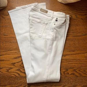 AG the Angel White Jeans